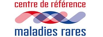 Logo rouge et bleu du centre de référence des maladies rares
