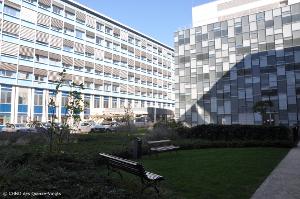 Photo des bâtiments de l'hôpital